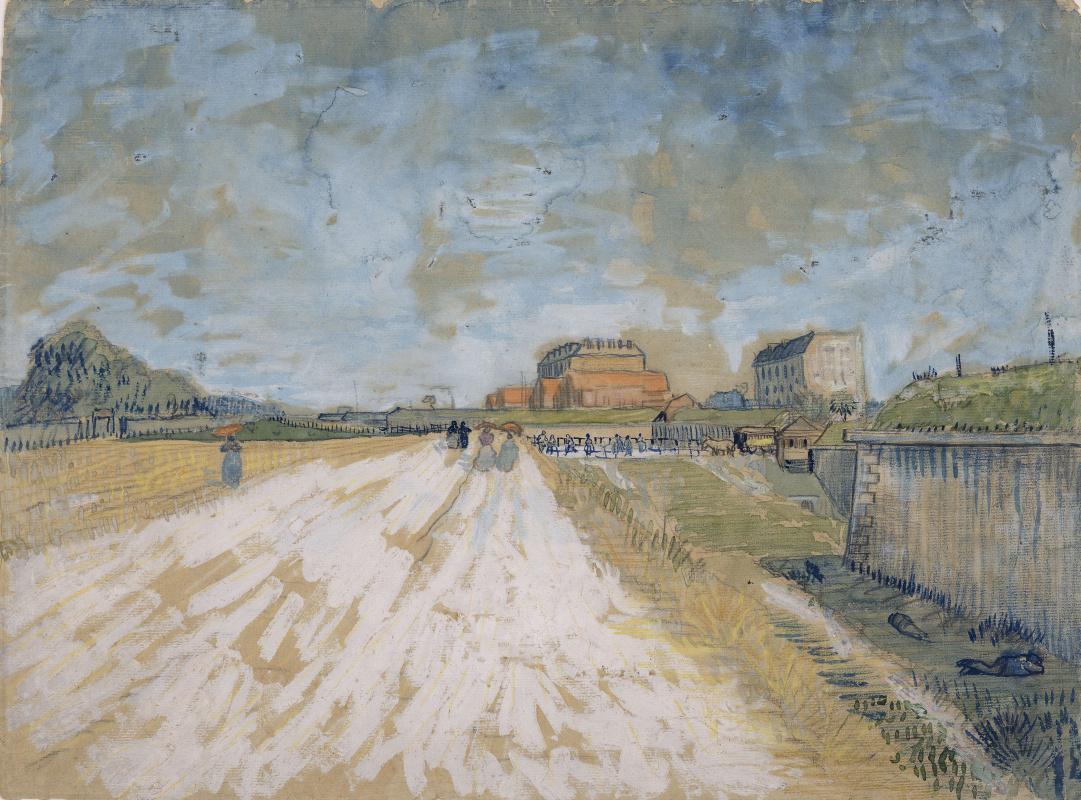 Vincent van Gogh. The road that runs along the Paris ramparts