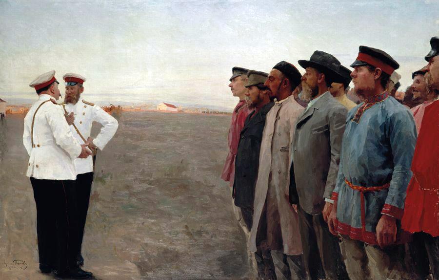 Lukian Vasilyevich Popov. Mobilized. 1904