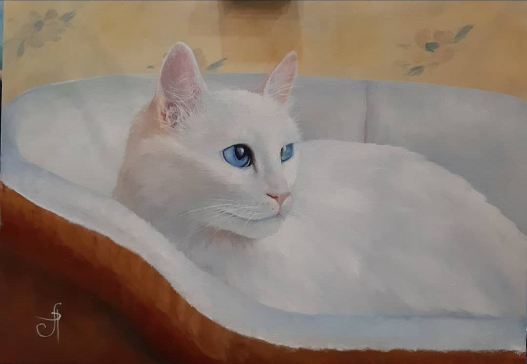 Lyudmila Alexandrovna Rossamakhina. White cat