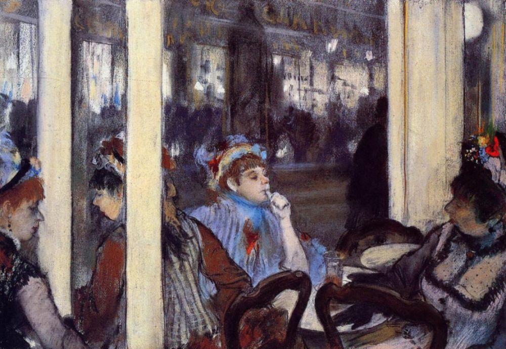 Эдгар Дега. Женщины на террасе в кафе вечером