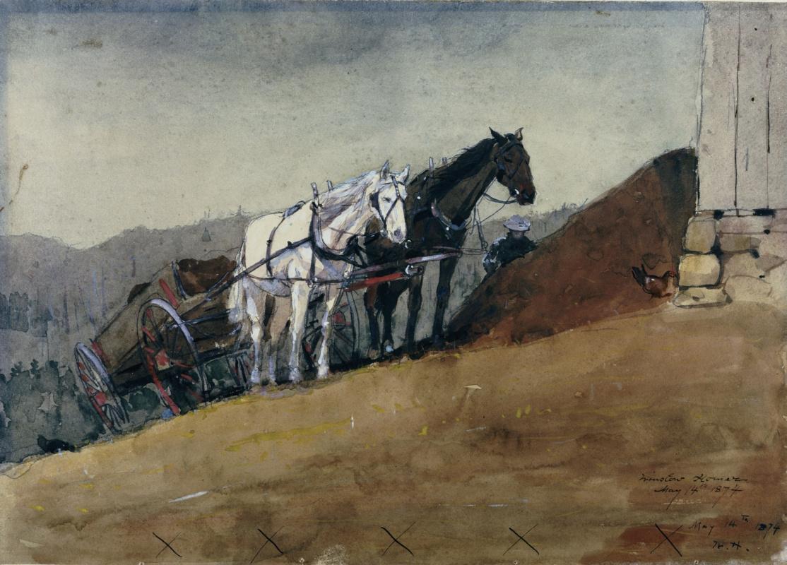Winslow Homer. The wagon on the farm Houghton