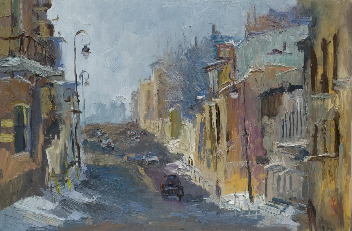 Dzhumabek Bazarbayevich Bazarbayev. Winter morning