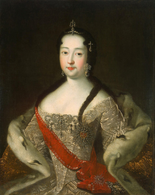Ivan Grigorievich Adolsky. Portrait of Princess Anna Petrovna