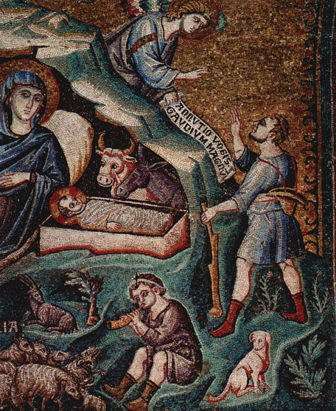 Пьетро Каваллини. Рождение Христа, деталь