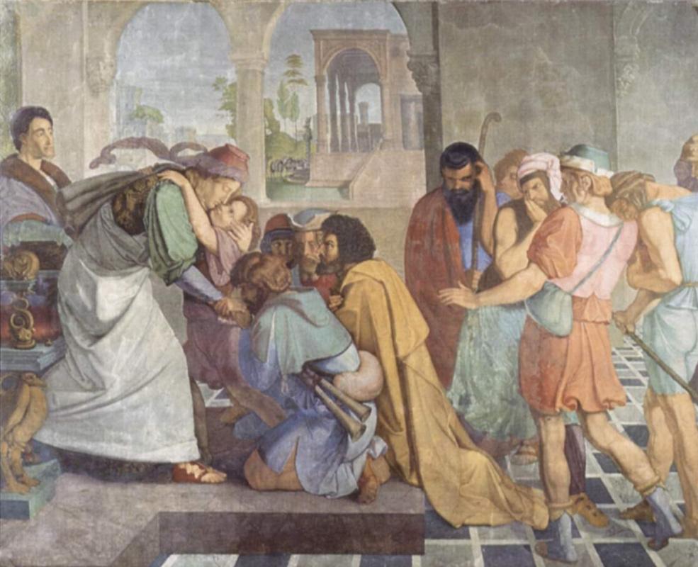 Петер фон Корнелиус. Фрески Каза Бартольди в Риме. Иосиф открывается своим братьям