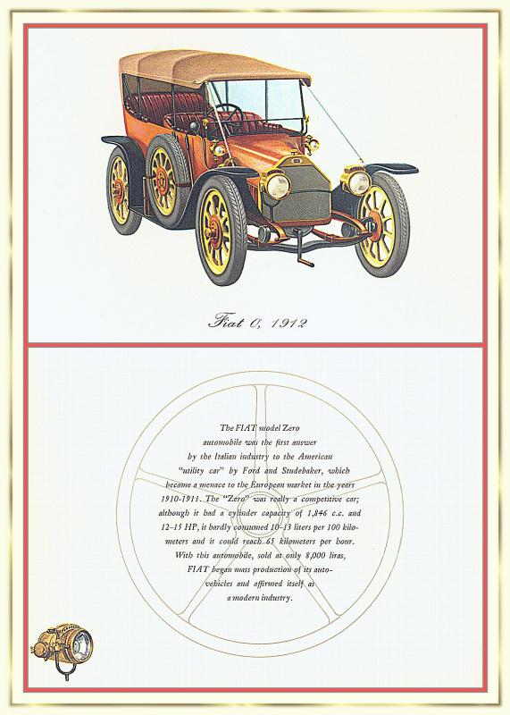 Лионель Моррис. Серия ретро-автомобили. 1912 Фиат 0