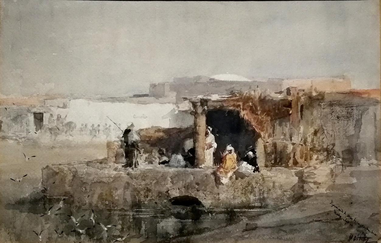Mariano Fortuny y Marsal. Bedouin village. Vantage point