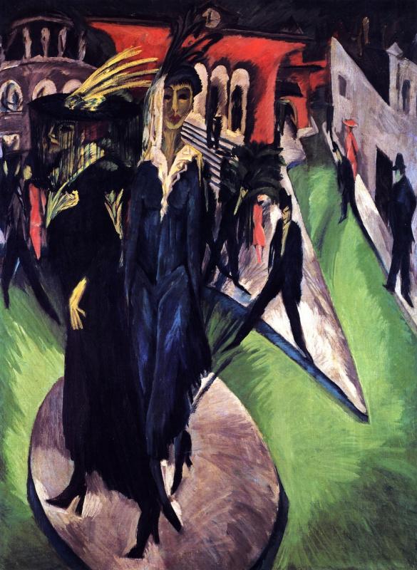 Ernst Ludwig Kirchner. Potsdamer Platz in Berlin
