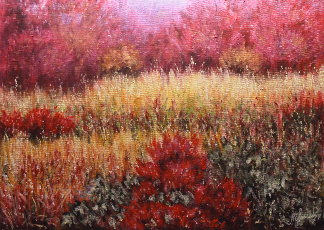Valery Levchenko. No. 332 Sunny meadow in the autumn forest
