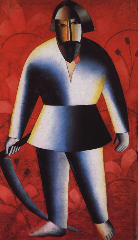 Казимир Северинович Малевич. Жнец на красном фоне