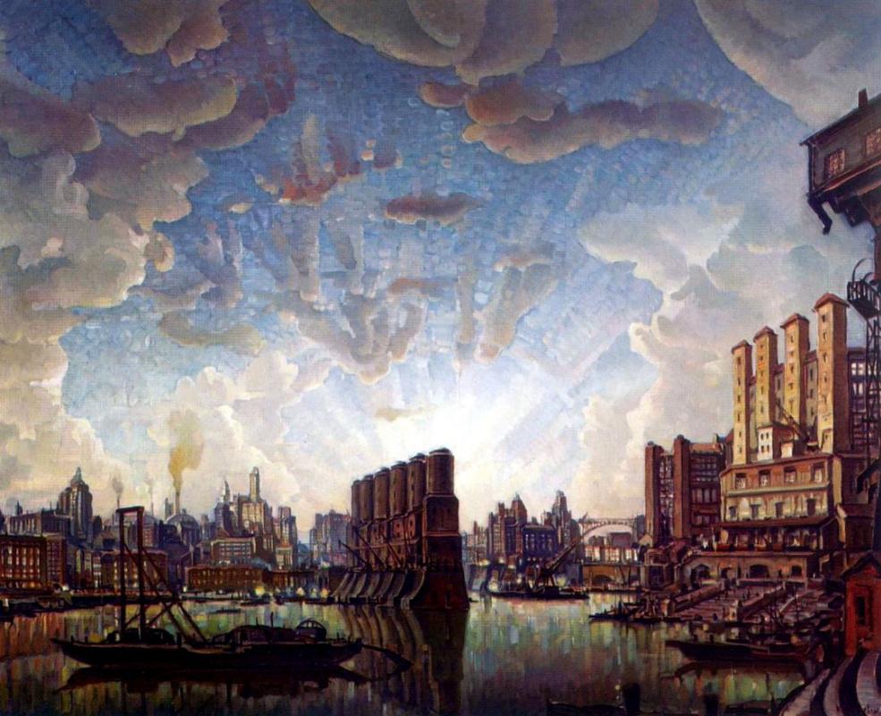 Константин Федорович Богаевский. Порт воображаемого города