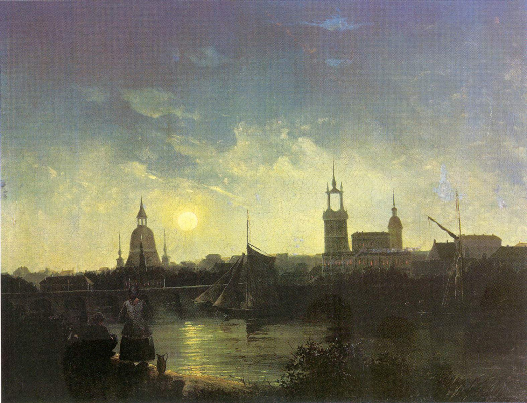 Никанор Григорьевич Чернецов. Вид города ночью