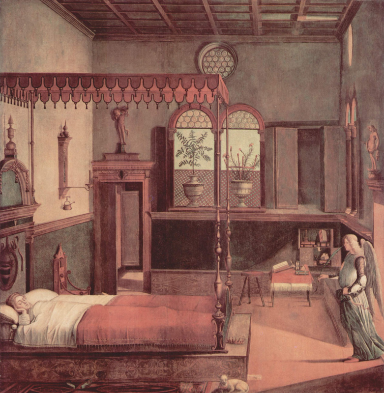 Vittore Carpaccio. The series of paintings the life of St. Ursula, sleep Holy