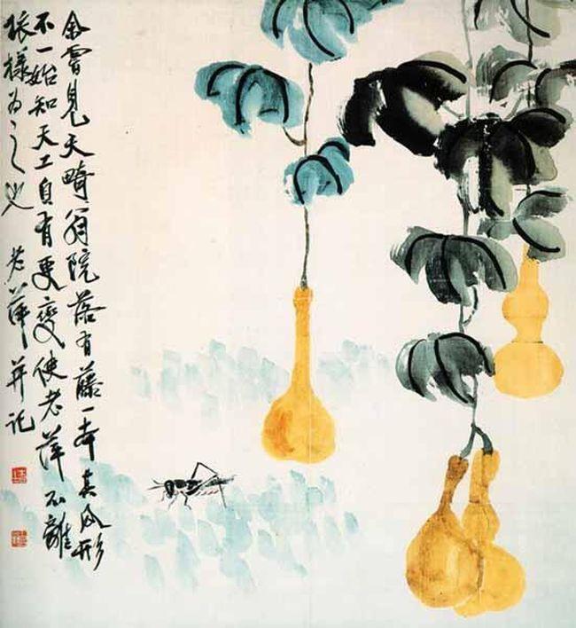 Qi Baishi. Bottle gourd