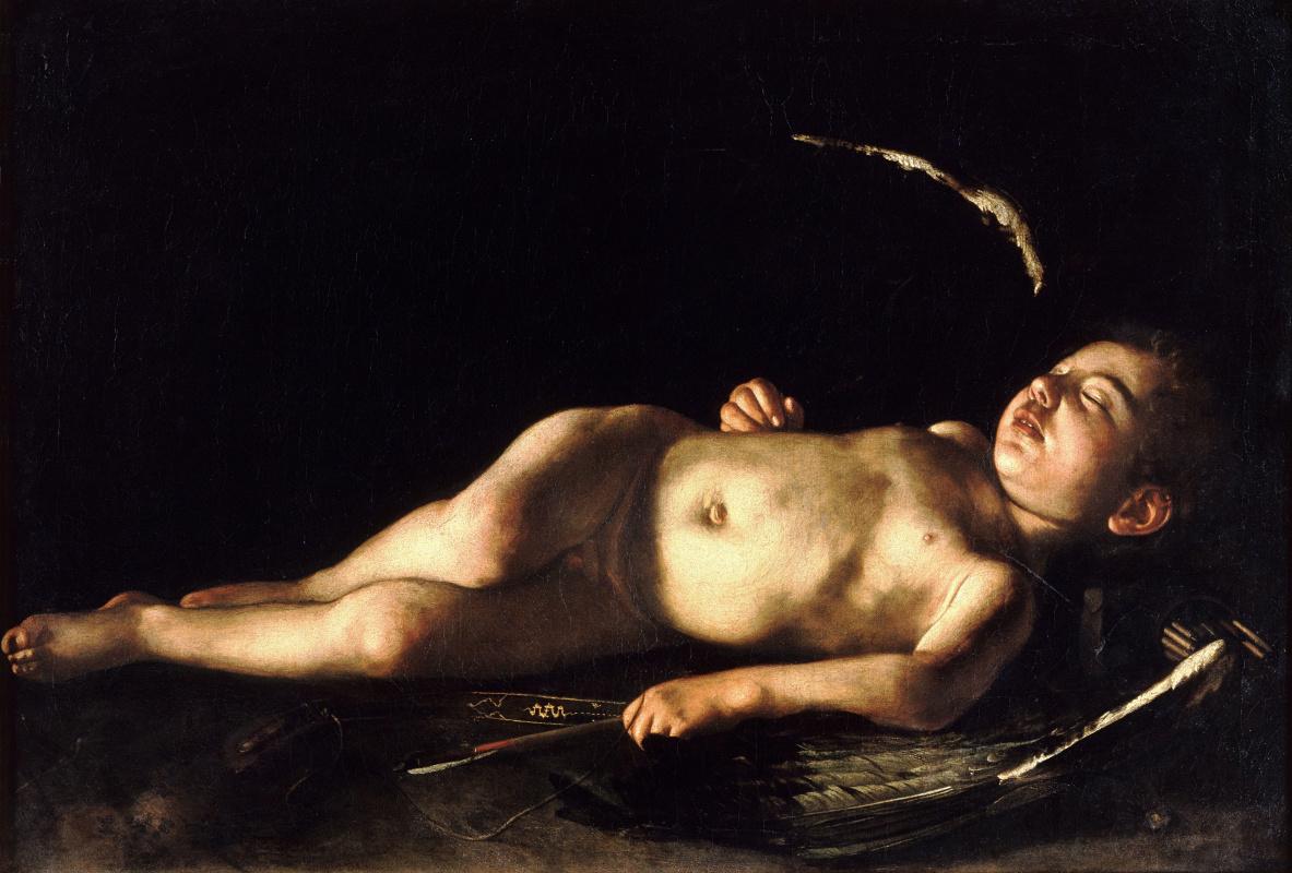 Микеланджело Меризи де Караваджо. Спящий Купидон