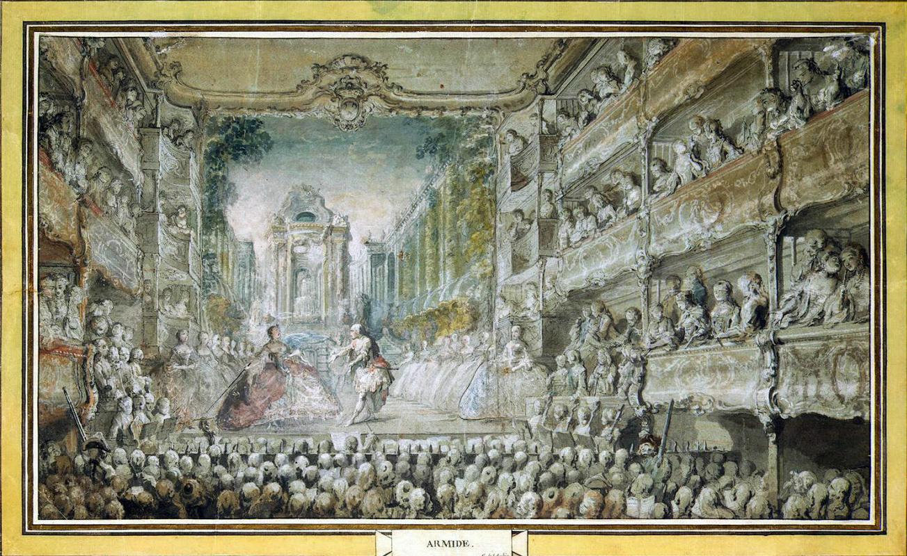 Габриель де Сент-Обен. Представление Армида в старом зале оперы