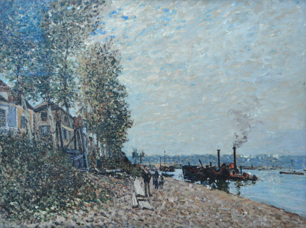 Alfred Sisley. People on the shore