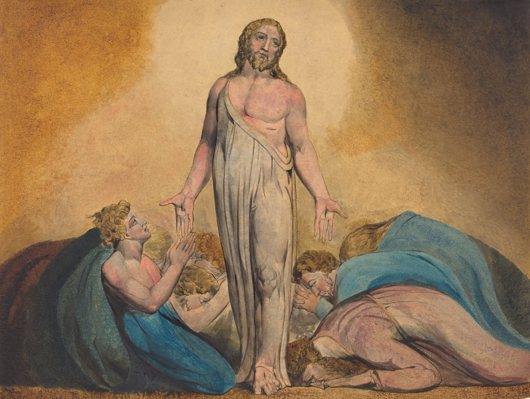 William Blake. Christ is the disciples after the Resurrection