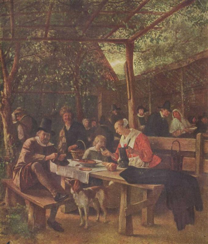 Ян Стен. Трактирный сад