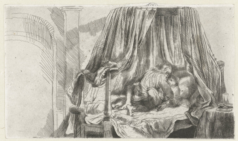 Rembrandt Harmenszoon van Rijn. French bed (Het Ledikant)