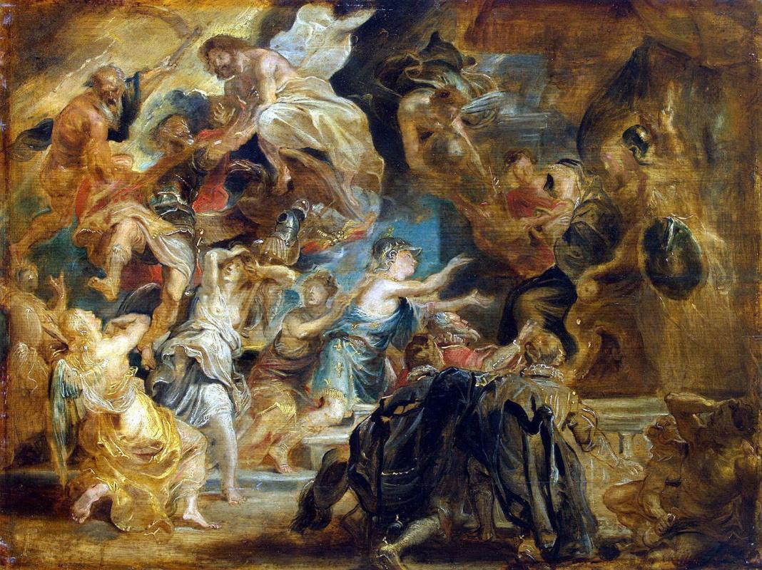 Питер Пауль Рубенс. Смерть Генриха IV и объявление регентства
