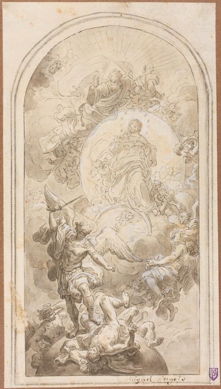 Франческо Де Мура. Битва архангела Михаила с Люцифером