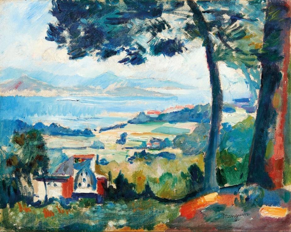 Henri Manguin. The view of the Villa Demie, Saint-Tropez