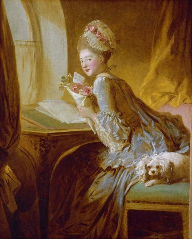 Jean Honore Fragonard. Love letter