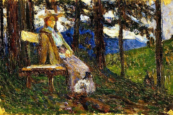 Wassily Kandinsky. Kochel. Anya and Daisy