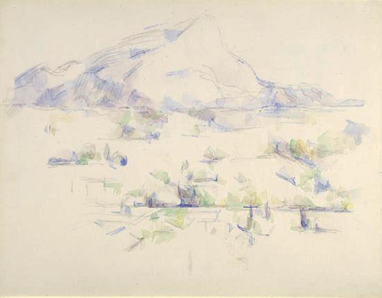 Paul Cezanne. Mount Sainte-Victoire, near AIX-EN-Provence
