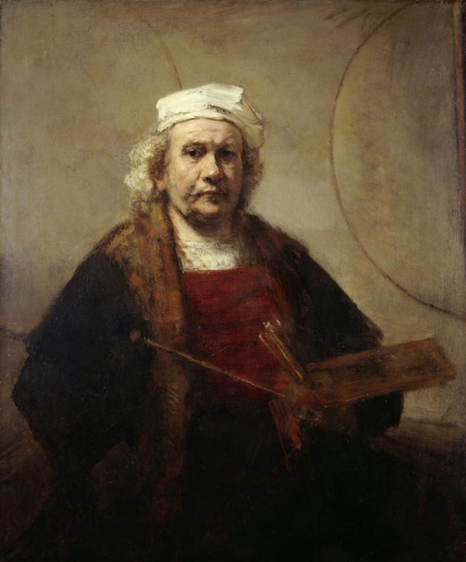 Rembrandt Harmenszoon van Rijn. Self portrait with two circles