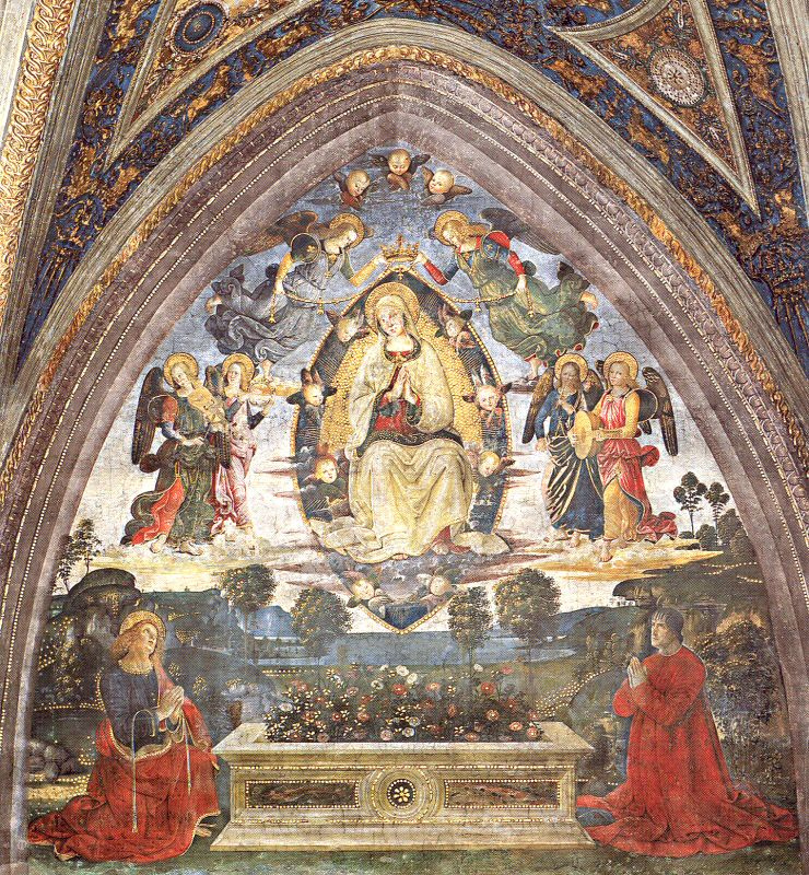 Pinturicchio. The virgin with angels