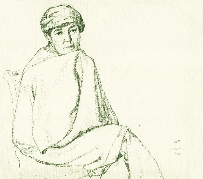 Mstislav Dobuzhinsky. Portrait of the wife