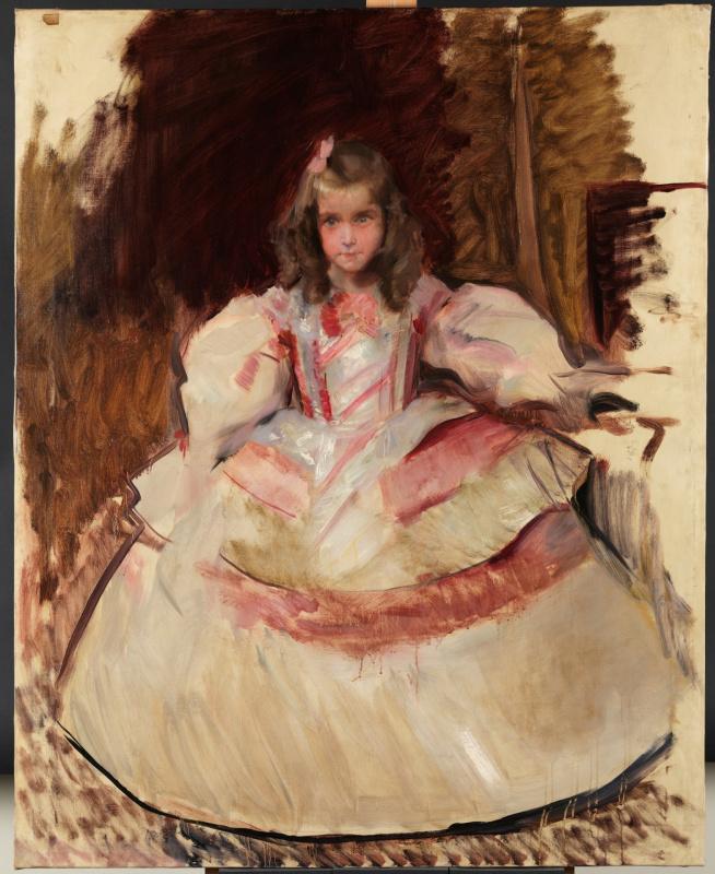 Хоакин Соролья (Соройя). Маленькая Мария Фигероа в костюме из «Менин»