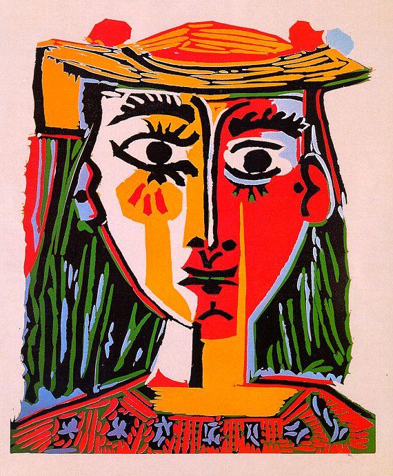 Пабло Пикассо. Женщина в красной шляпе