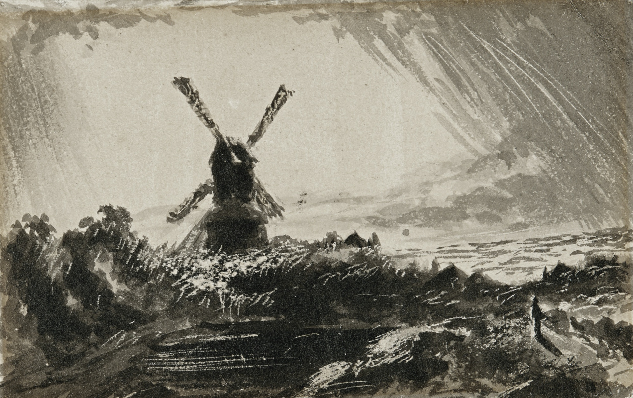 John Constable. A windmill in stormy weather