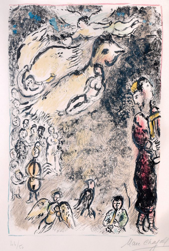 Marc Chagall. The magic flute