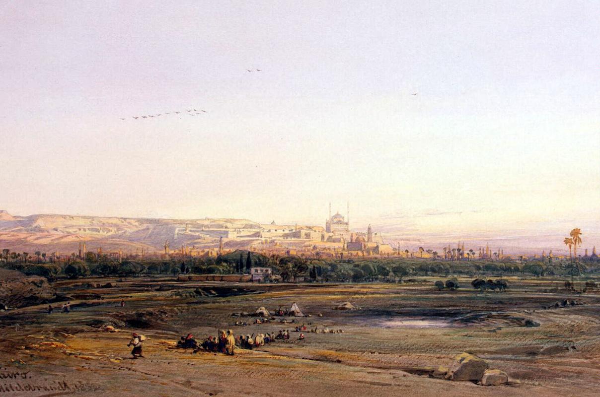 Эдуард Хильдебрандт. Вид Каира