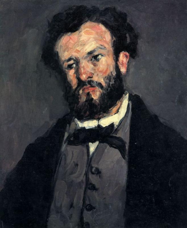 Paul Cezanne. Portrait Of Anthony Valabrega