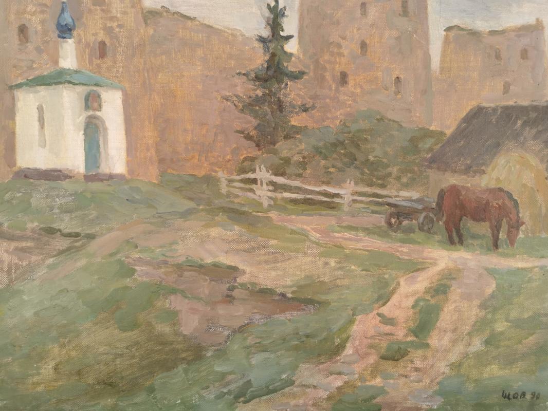 O. V. Shcherbin. Izborsk. At the walls of an ancient fortress