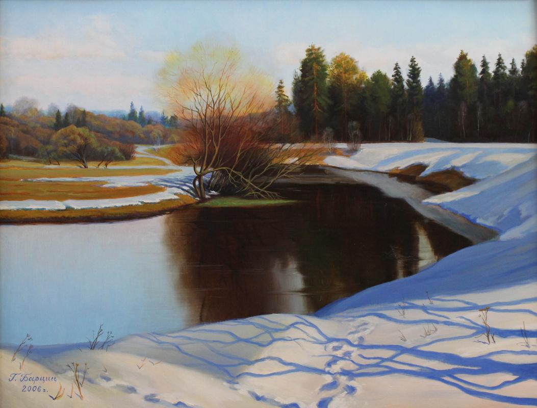 Gennady Shotovich Bartsits. Spring day on the Ucha river