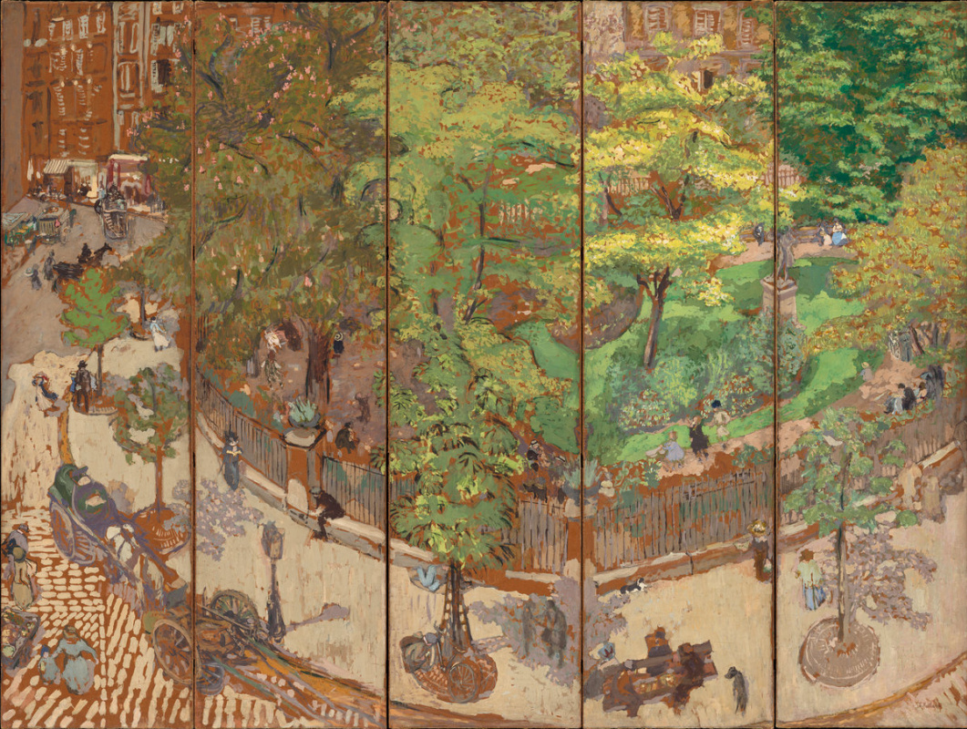 Jean Edouard Vuillard. Square Vintimille. Patanella screen for margaritas Shape