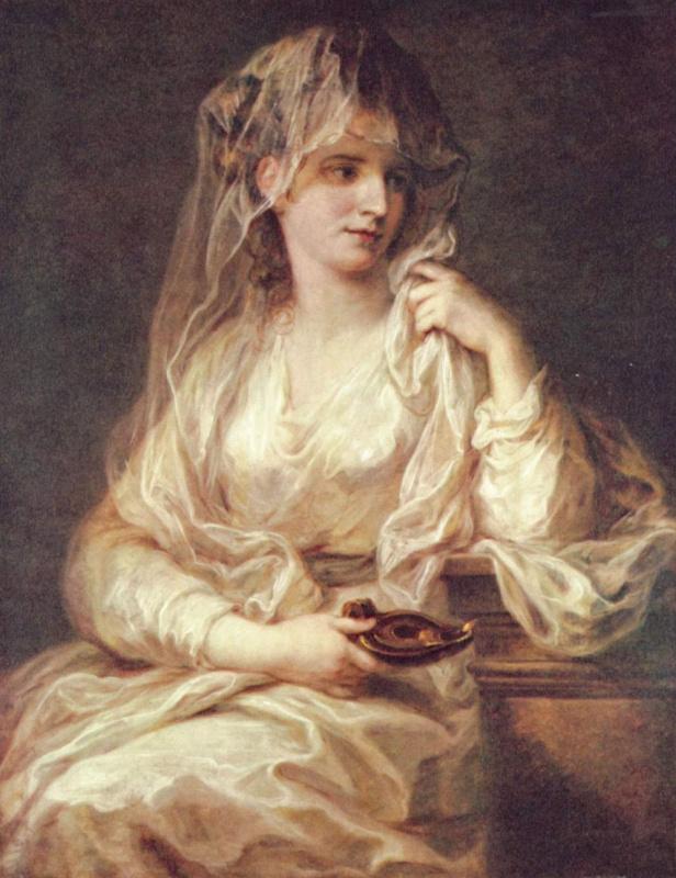 Ангелика Кауфман. Портрет дамы в образе весталки