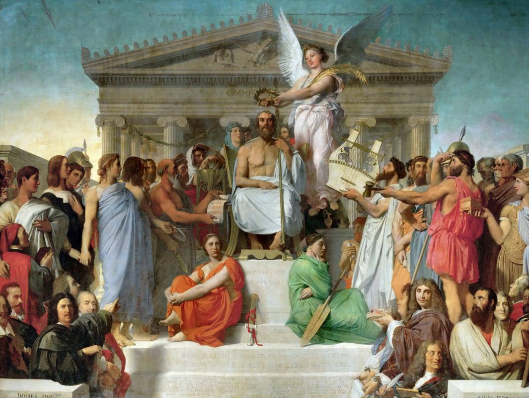Jean Auguste Dominique Ingres. The Apotheosis Of Homer