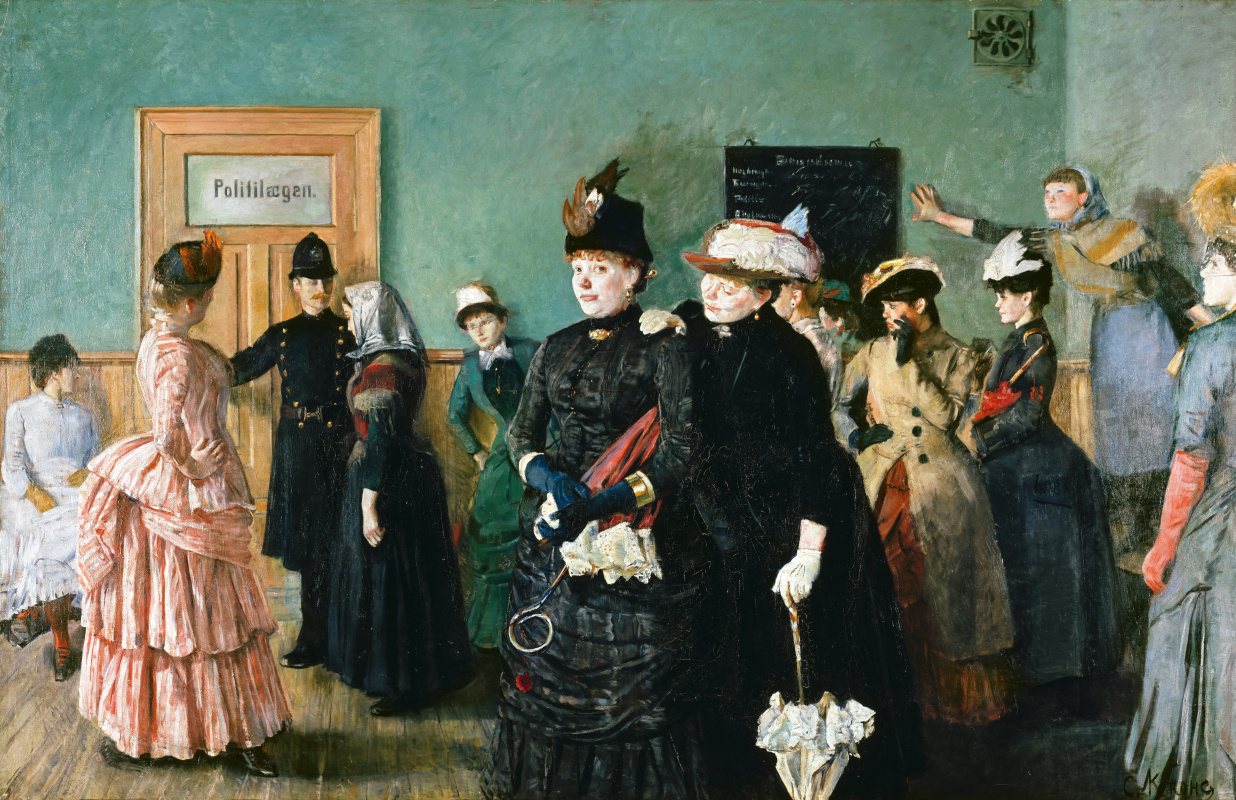 Christian Krogh. Albertina at a police doctor's appointment