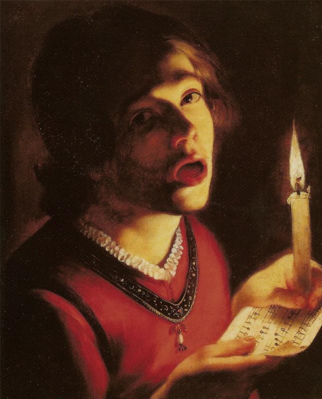 Trophim Bigo. Self-portrait with a candle