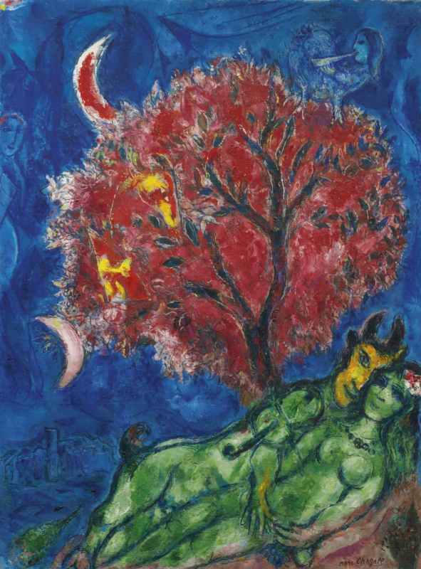 Марк Захарович Шагал. Красное дерево