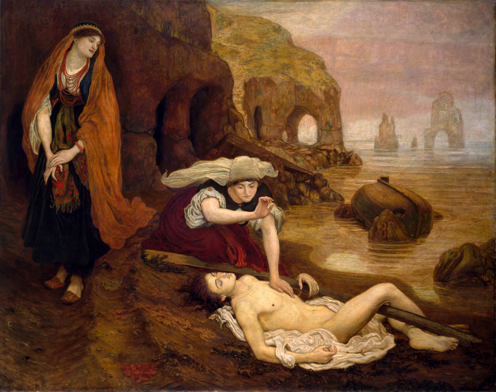 Ford Madox Brown. Haida finds don Giovanni