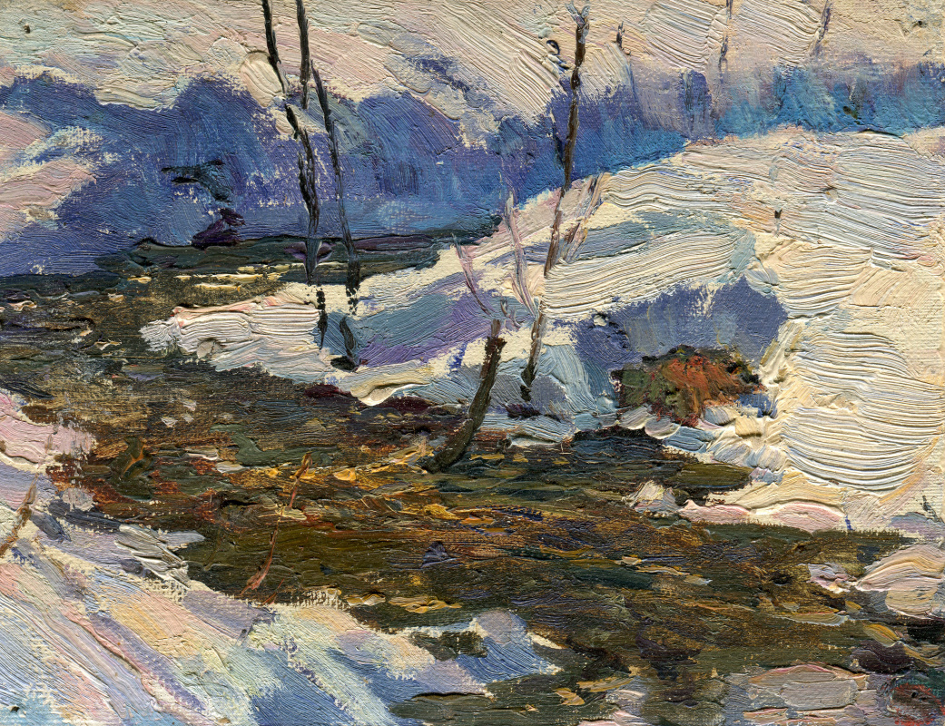"Vasily Fadeevich Demin. Etude ""The First Thaw"""