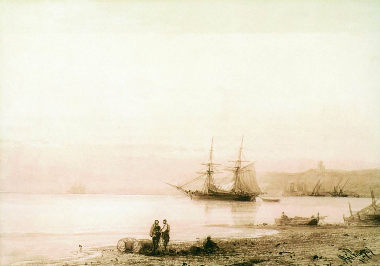 Ivan Aivazovsky. Sea shore